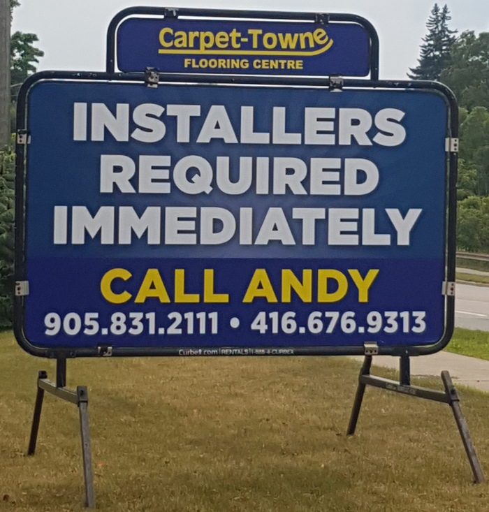 Installers Required Immediately